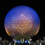 Spaceship_Earth_at_night