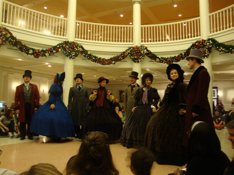 Voices of Liberty Christmas Caroling at Epcot in Disney World