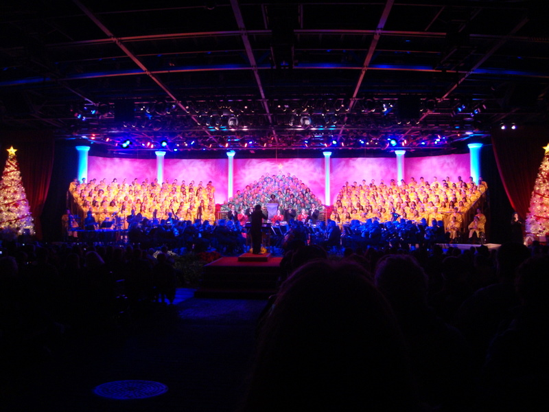 2015 Epcot Candlelight Christmas Show at Disney World Featuring the Walt Disney Orchestra, Voices of Liberty, Choirs, and Celebrity Narrators