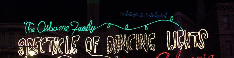 2014 Hollywood Studios Christmas Lights Featuring the Osborne Family Spectacle of Dancing Lights