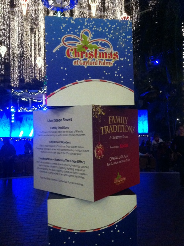 Gaylord Palms Christmas Caroling and Stage Shows featuring Luminescence, Christmas Wonders, and Family Traditions