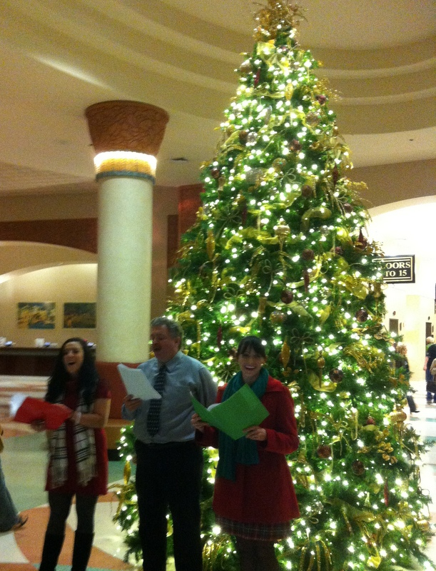 Celebrating the Christmas Season at the Rosen Centre Hotel on International Drive featuring Caroling and Santa Claus