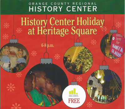 2015 Holiday at Heritage Square Christmas Event at the Orange County History Center on December 12th
