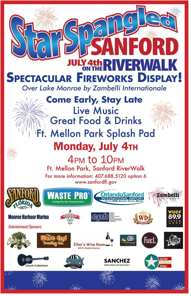 2019 Sanford 4th Of July Fireworks Celebrates America With