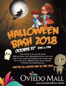 Trick Or Treating At Orlando Malls For Halloween In 2018 For A